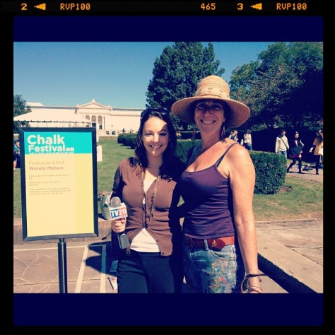Leah Haslage with Featured Artist Wendy Mahon