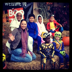 Reporter Leah Haslage at Boo At The Zoo