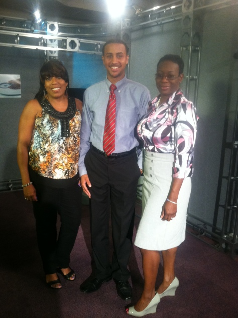 TV20 General Manager Kathy Allen, Christian Patterson and Nina Turner