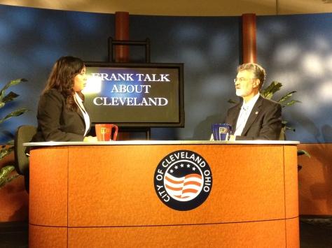 Mayor Frank Jackson with reporter Ciarra Nelson