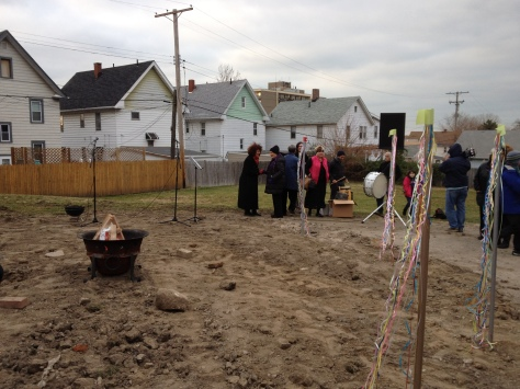 the Groundbreaking Ceremony for the new Near West Theatre