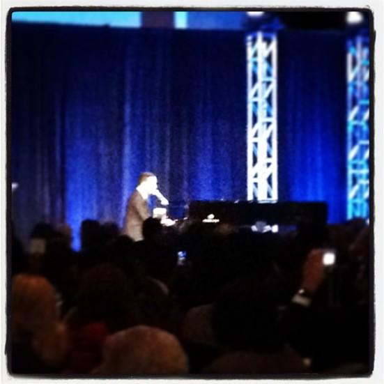 2013 Keynote Speaker and Musician John Legend performing