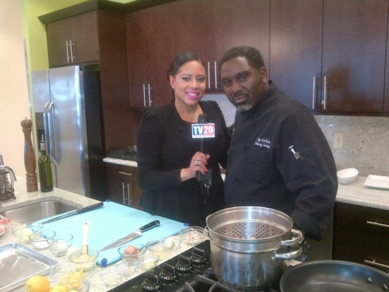 Ciarra with Chef Eric Wells
