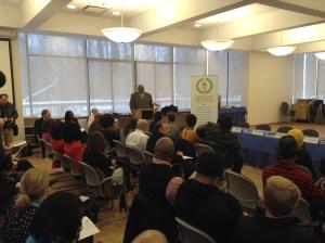 Commissioner Leonard Jackson opening CMSD Senior Signing Day.