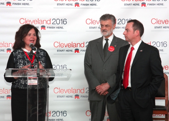 Mayor Frank G. Jackson along with Ms. Enid Mickleson and Mr. Reince Priebus